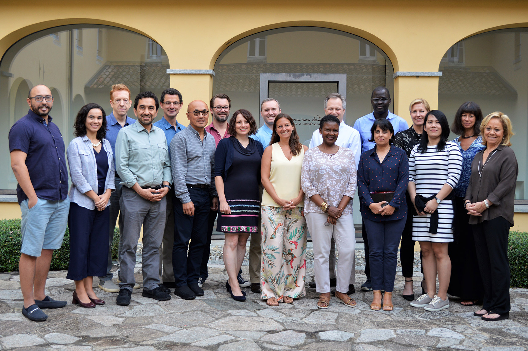 Participants from the August, 2019 Civic Space 2040 kick-off meeting. The meeting gathered thought leaders, experts, and activists from around the world at the Rockefeller Foundation's Bellagio Center in Italy to explore trends that will radically transform civic space in the future. (Photo: ICNL)