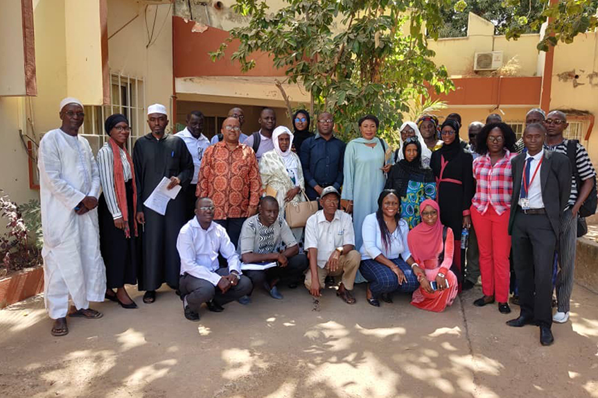 Participants from ICNL's February 2020 three-day consultative meeting in Banjul-The Gambia on the country's new NGO bill. (Photo: ICNL)