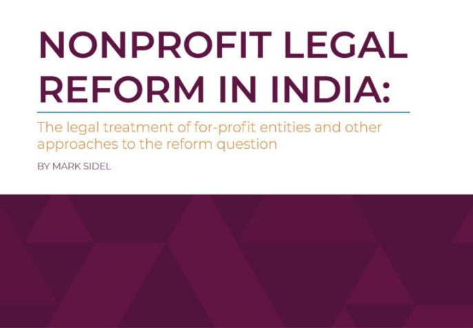 Nonprofit Legal Reform in India