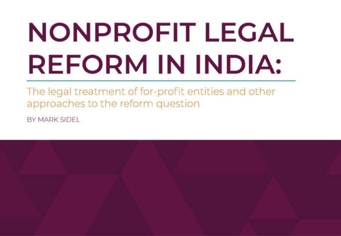 Nonprofit Legal Reform in India