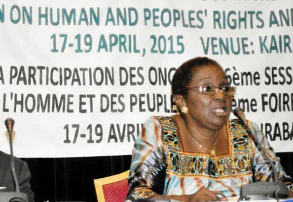 ACHPR Commissioner Reine Alapini Gansou (photo credit: ICNL)