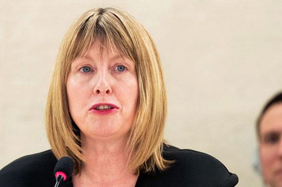 UN Special Rapporteur Fionnuala Ni Aolain (photo credit: United Nations photo)