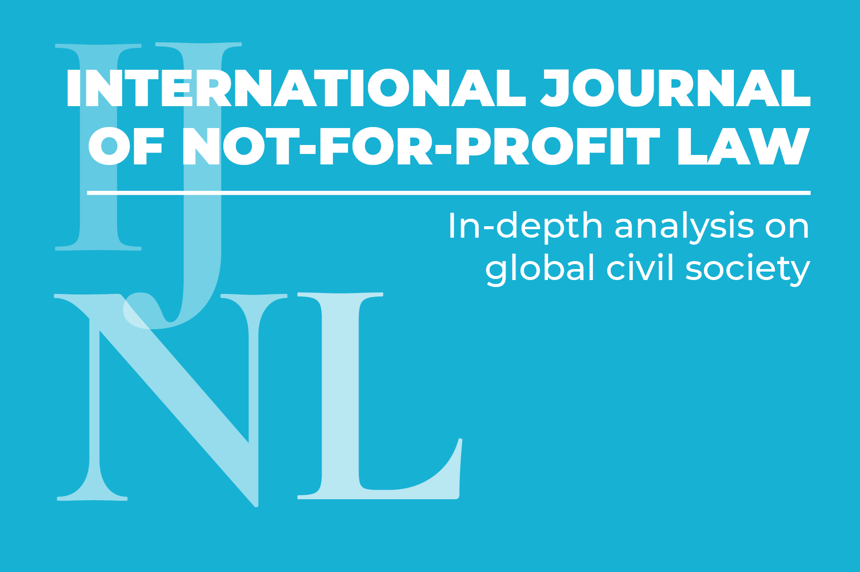 ICNL's International Journal for Not-for-Profit Law - landing page button
