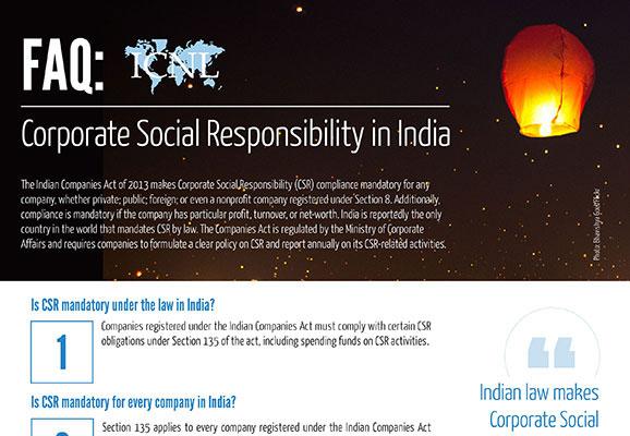 FAQ: Corporate Social Responsibility in India