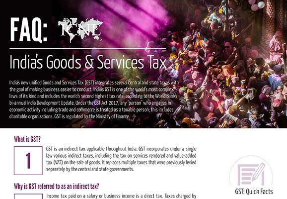 FAQ: India's Goods & Services Tax