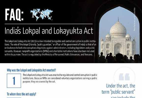 FAQ: India's Lokpal and Lokayukta Act