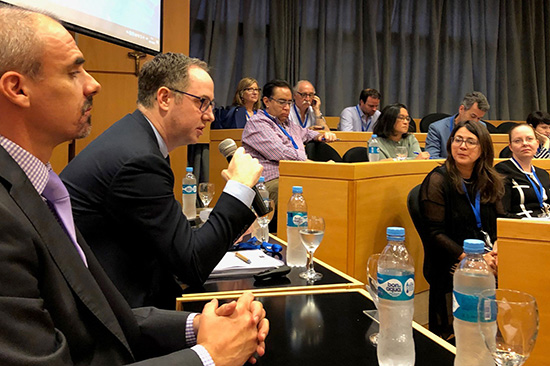 At a high-level event on the margins of the November 2018 G20 Summit, the Executive Secretary of the Financial Action Task Force (FATF) explains that governments must collaborate with nonprofits to study and mitigate barriers to financial services for the sector. (Credit: ICNL)