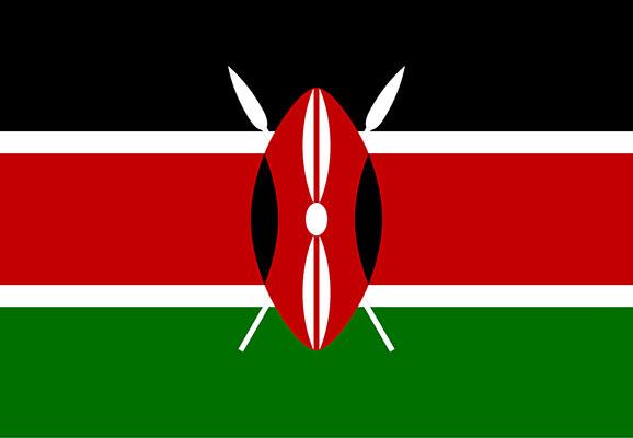 Flag of Kenya (Graphic credit: Wikimedia)
