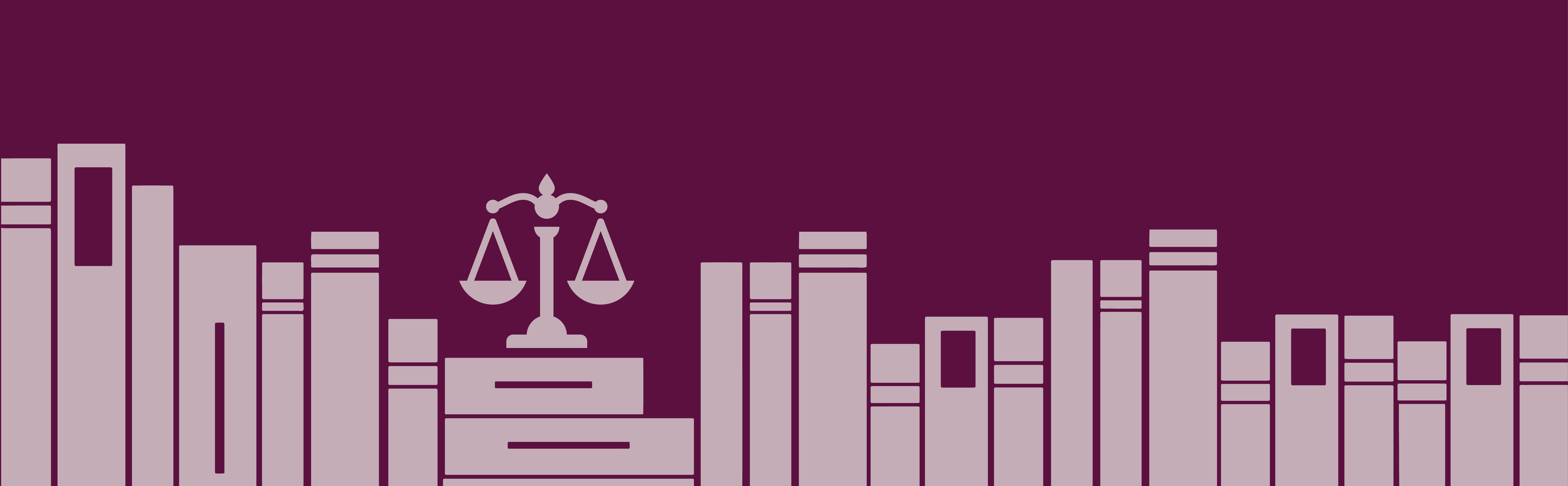 Digital Legal Library header - shelf of books and a scale of justice