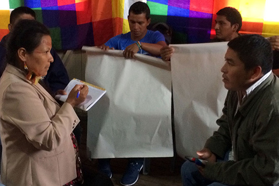 Indigenous leaders in Ecuador's Amazon region assess the laws regulating their organizations against international standards for freedom of association. (Photo credit: ICNL)