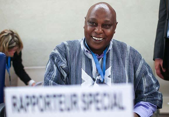 Special Rapporteur Maina Kiai at the UN Human Rights Council (Photo credit: Jeff Vize)