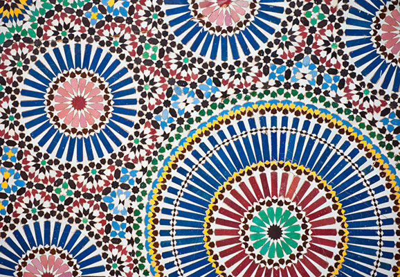 A tile mosaic from Morocco (photo credit: Jörg Reuter/Flickr)