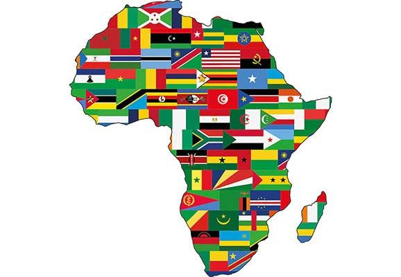 A map of Africa with each country's flag (Photo Credit: Pixabay)