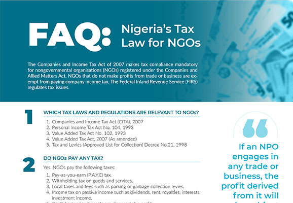 FAQ: Nigeria's Tax Law for NGOs