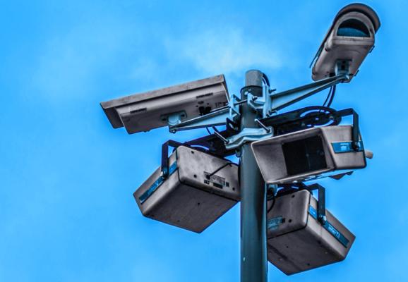 Group of outdoor security cameras (Photo credit: Nathaniel Dahan)
