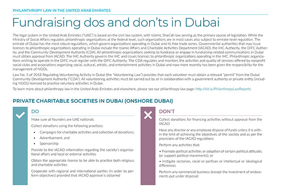 Fundraising Dos and Don'ts in Dubai