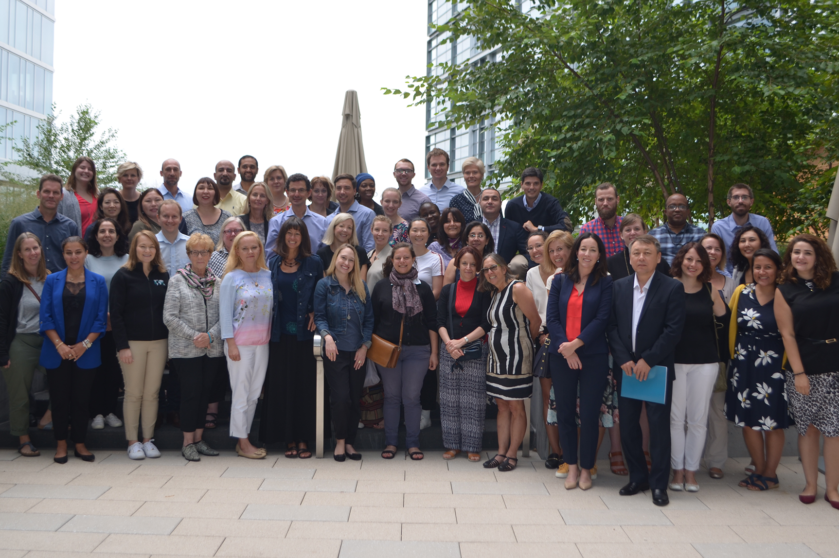 All staff photo from a 2019 ICNL Alliance retreat in Washington, DC (Photo: ICNL)
