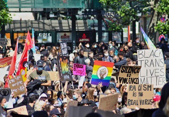 black live matter protest (credit: pixabay.com)