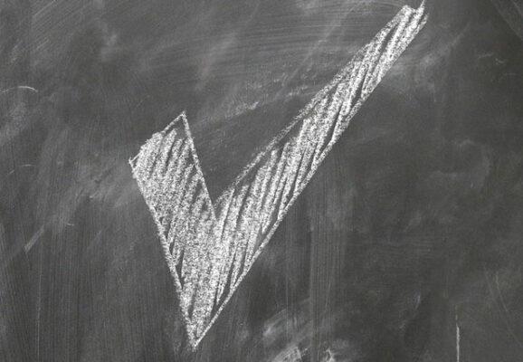 check mark on chalk board (credit: pixabay.com)