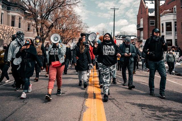 black live matter protest (credit: unsplash.com)