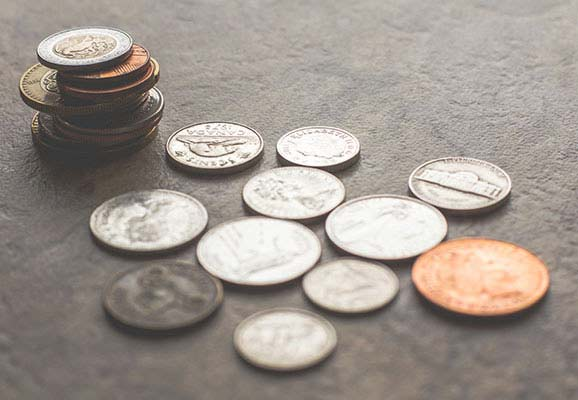 Assorted coins (photo credit: Steve Johnson/Unsplash)